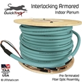 2 Strand Indoor Plenum 40-GIG 50/125 OM4 Multimode Interlock Armor Cable