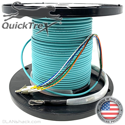 "2 Strand CustomLine Indoor (Plenum) 50/125 OM4 Multimode ""Fiber Whips"" Assembly"