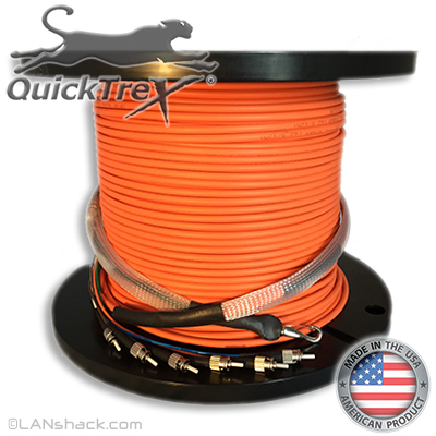 "2 Strand CustomLine Indoor (Plenum) 62.5/125 OM1 Multimode ""Fiber Whips"" Assembly"