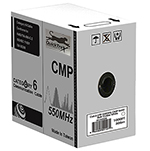 QuickTreX Cat 6 550MHz UTP 23AWG Solid Plenum Rated (CMP) Bulk Ethernet Cable - 1000 FT