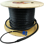 2 Strand CustomLine Outdoor Armored Direct Burial (OSP-DB) Multimode 10-GIG 50/125 OM3 Assembly by QuickTreX
