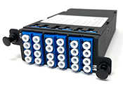 MPO 24 Fiber (2 X 12 MPO Male) to 24 LC (12 Duplex Adapters)  Singlemode Super High Density (SHD) Cassette by QuickTreX®