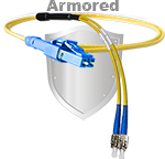 LC Uniboot to FC Stainless Steel Armored Fiber Optic Patch Cable (Plenum Rated) Singlemode - USA CustomLine by QuickTreX®
