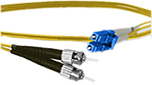 10 meter LC to ST, 9/125, Singlemode Duplex Patch Cable - Plenum Rated - USA CustomLine by QuickTreX®