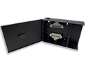 Lightweight Alluminum 2 panel Wall Mount Fiber Optic Termination Box Enclosure