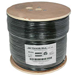 RG6 Quad Shield Direct Burrial Outdoor Cable - 1000ft