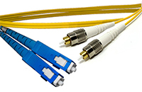 FC to SC Singlemode Duplex Fiber Optic Patch Cable