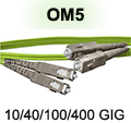 3 Meter SC to SC OM5 (50/125) - 10/40/100/400 GIG Multimode Duplex Patch Cable - Plenum Rated - USA CustomLine by QuickTreX®