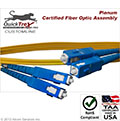 10 meter SC to SC, 9/125, Singlemode Duplex Patch Cable - Plenum Rated - USA CustomLine by QuickTreX®