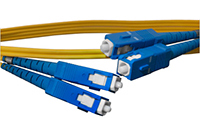 SC to SC Singlemode Duplex Fiber Optic Patch Cable