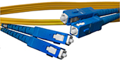 By The Inch -  Measured Tip to Tip, SC to SC, 9/125, Singlemode Duplex Patch Cable - Plenum Rated - USA CustomLine by QuickTreX®