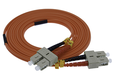 Stock 2 meter SC to SC 62.5/125 OM1 Multimode Duplex Patch Cable