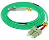 Stock 5 meter LC to SC 50/125 OM3, 10 GIG Multimode Duplex Patch Cable