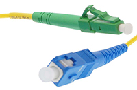 LC APC to SC UPC Singlemode Simplex Patch Cables