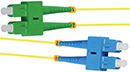 Stock 1 meter SC UPC to SC APC Singlemode Duplex Patch Cable