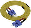 Stock 1 meter SC to SC Singlemode Duplex Patch Cable