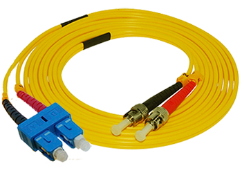 Stock 2 meter ST to SC Singlemode Duplex Patch Cable