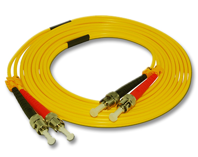 Stock 1 meter ST to ST Singlemode Duplex Patch Cable