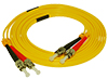 Stock 2 meter ST to ST Singlemode Duplex Patch Cable