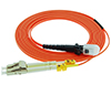 Stock 1 meter LC to MTRJ 62.5/125 OM1 Multimode Duplex Patch Cable