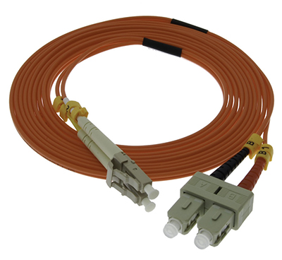 Stock 15 meter LC to SC 50/125 OM2 Multimode Duplex Patch Cable