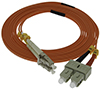 Stock 2 meter LC to SC 50/125 OM2 Multimode Duplex Patch Cable