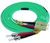 Stock 5 meter SC to ST 50/125 OM3, 10 GIG Multimode Duplex Patch Cable