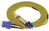 Stock 1 meter LC to SC Singlemode Duplex Patch Cable