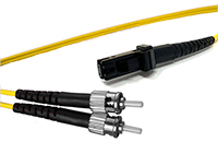 MT-RJ to ST Singlemode Fiber Optic Patch Cable