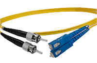 ST to SC Singlemode Duplex Fiber Optic Patch Cable