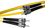 1 meter ST to ST, 9/125, Singlemode Duplex Patch Cable - Plenum Rated - USA CustomLine by QuickTreX®