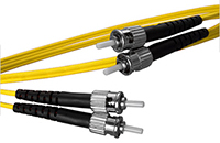 ST to ST Singlemode Duplex Fiber Optic Patch Cable