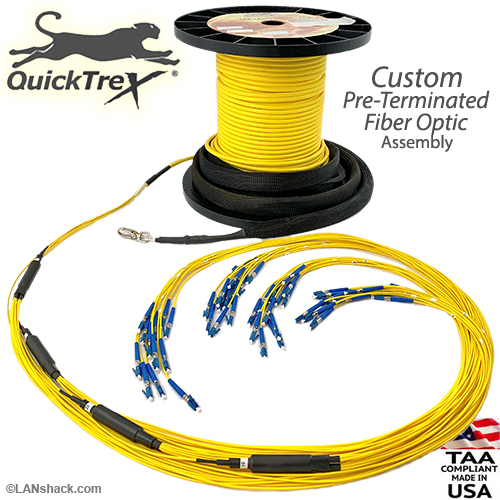 48 Strand CustomLine Indoor (Plenum) Singlemode Micro-Distribution Assembly by QuickTreX