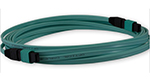 Stock MTP OM3 10-Gig 12 Fiber Cable (5 meter) - Female/Female, Method A - Straight Through