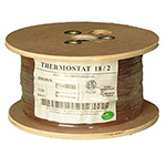 18/2 Riser Rated (CMR) Thermostat Cable Solid Copper PVC - BROWN - 500ft