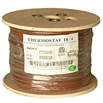 18/4 Riser Rated (CMR) Thermostat Cable Solid Copper PVC - BROWN - 500ft