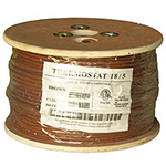 18/5 Riser Rated (CMR) Thermostat Cable Solid Copper PVC - BROWN - 500ft