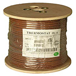 18/6 Riser Rated (CMR) Thermostat Cable Solid Copper PVC - BROWN - 500ft