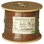 18/8 Riser Rated (CMR) Thermostat Cable Solid Copper PVC - BROWN - 250ft