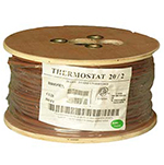 20/2 Riser Rated (CMR) Thermostat Cable Solid Copper PVC - BROWN - 500ft