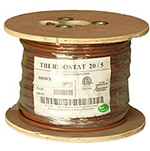 20/5 Riser Rated (CMR) Thermostat Cable Solid Copper PVC - BROWN - 500ft