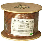 20/8 Riser Rated (CMR) Thermostat Cable Solid Copper PVC - BROWN - 250ft