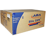 Cat 6 1000x, UTP, PVC, 4 Pair 28 AWG Stranded Cable - 1000 Ft by ABA Elite