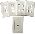 QuickTreX® Designer Style Flush Wallplate for Keystone Jacks