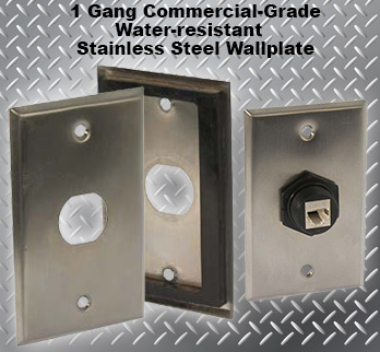 1 Gang Commercial-Grade Stainless Steel Water-Resistant Wallplate
