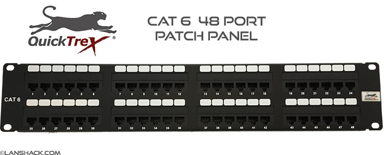 QuickTreX® 48 Port Cat 6 Patch Panel