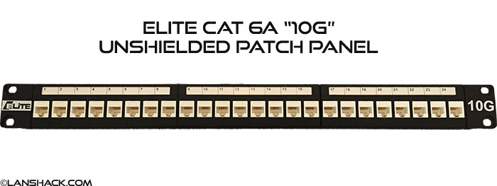 Elite 10G 24 Port Cat6A 10Gigabit Patch Panel
