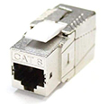 Cat 8 Shielded Toolless Keystone Jack - 40G - (Fits Cat7A & Cat8 Cable)