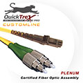 10 meter MT-RJ to FC, 9/125, Singlemode Duplex Patch Cable - Plenum Rated - USA CustomLine by QuickTreX®