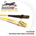 1 meter MT-RJ to LC, 9/125, Singlemode Duplex Patch Cable - Plenum Rated - USA CustomLine by QuickTreX®